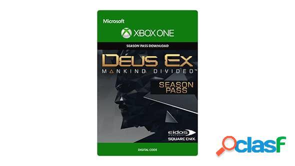 Deus ex mankind divided season pass, xbox one - producto digital descargable