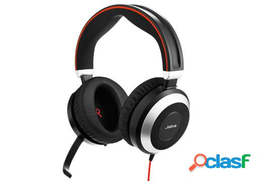 Jabra audífonos con micróno evolve 80 uc stereo, alámbrico, 3.5mm/usb, negro/plata