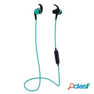 Brobotix audífonos intrauriculares con micrófono sport tf2, inalámbrico, bluetooth, usb, negro/azul