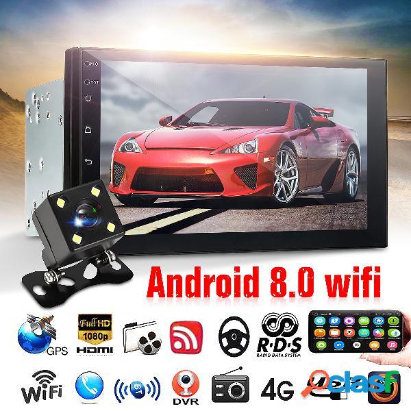 7 inch coche reproductor mp5 para android 8.0 pantalla 2.5d gps wifi fm con trasera cámara