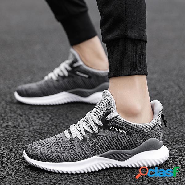 Flying woven calzado deportivo calzado casual de hombre temporada transpirable zapatilla de generación