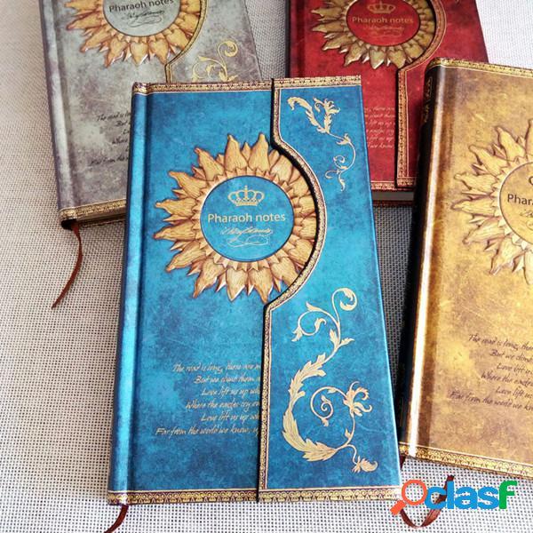 Diario de diario de estilo mágico vintage cubierta dura vintage bolsillo planificador cuaderno material escolar de oficina
