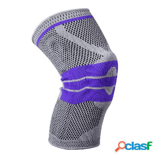 Rodilleras deportivas para hombre poliéster al aire libre aptitud rodilleras delgadas transpirables