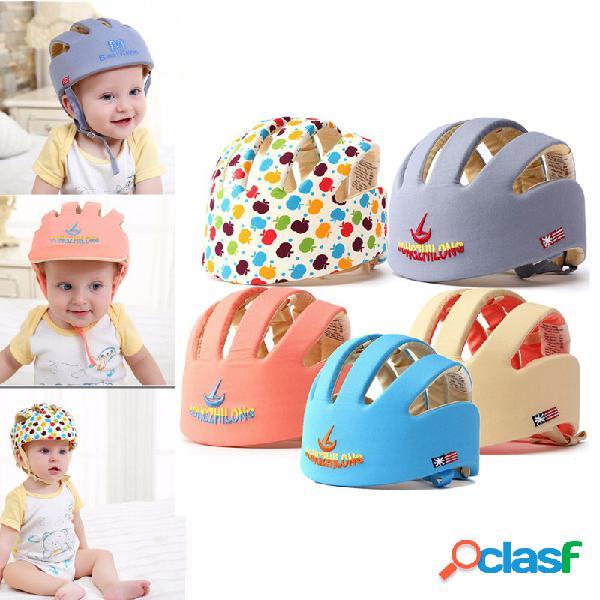Nuevo bebé niño casco de seguridad ajustable casco casco de protección gear cap