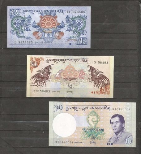 Coleccion 3 billetes de butan