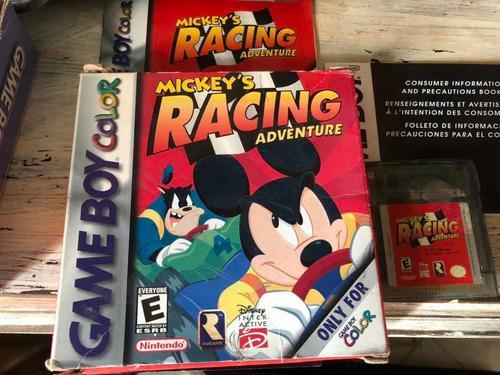 Juego para gameboy color mickeys racing adventure con caja