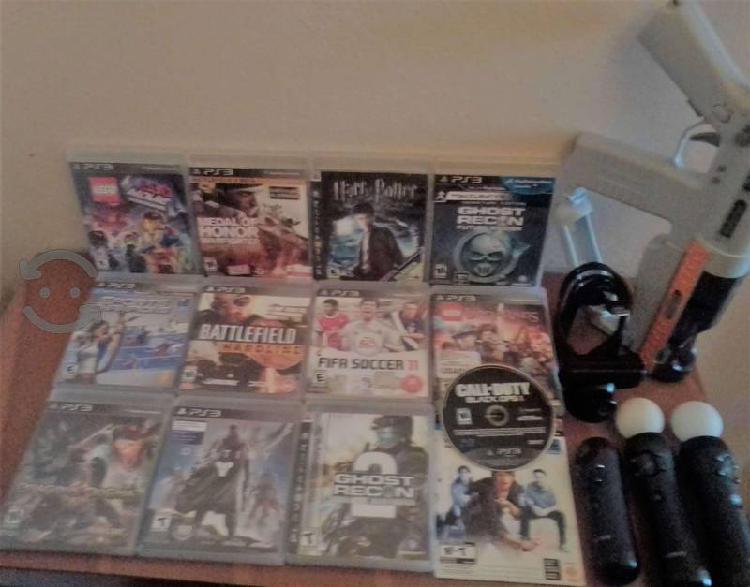 Lote de juegos y accesorios para ps3