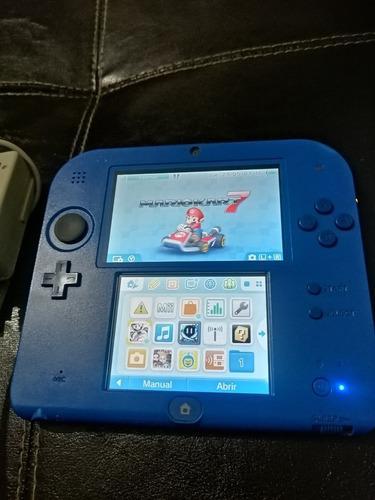 Nintendo 2ds color azul con juegos instalados 3ds