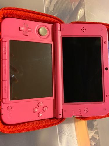 Nintendo 3ds xl. rosa incluye juegos y accesorios