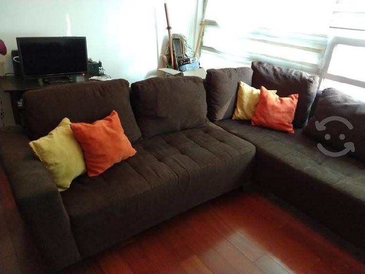 Sala, sillones, esquinero, sala cafe