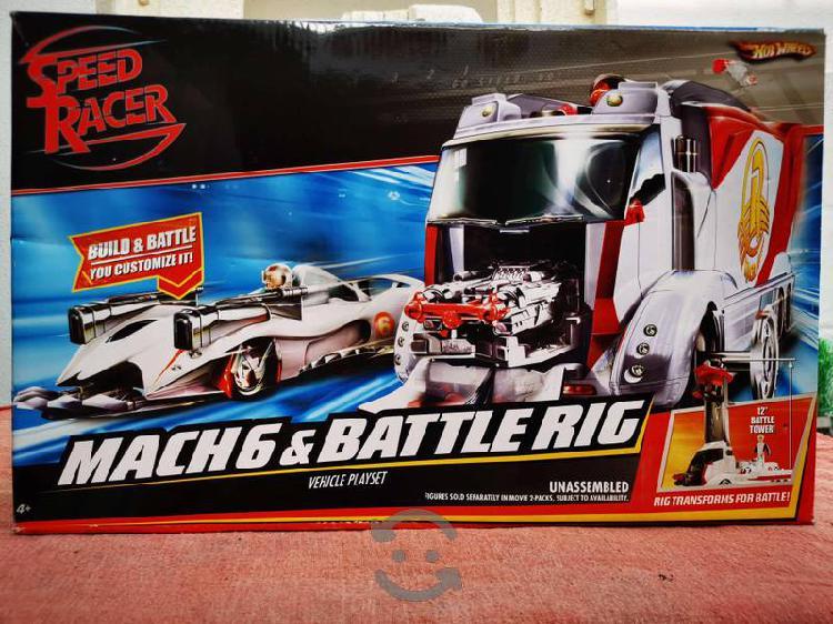 Speed racer mach 6 & battle rig vehicle playset
