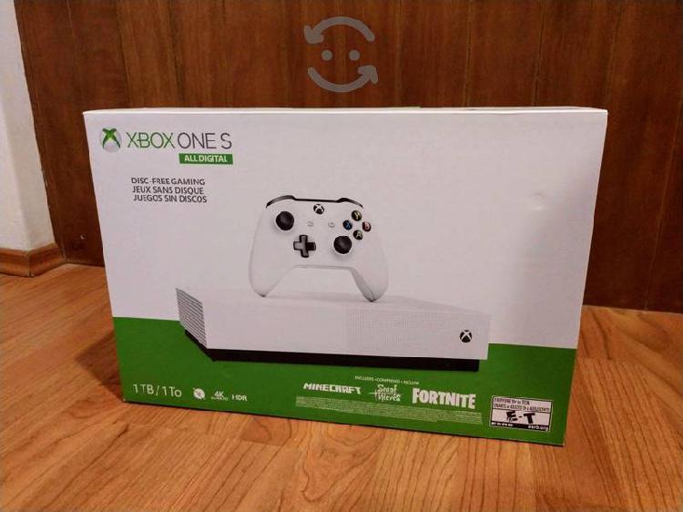 Xbox one s 1tb all digital nuevo sellado garantía