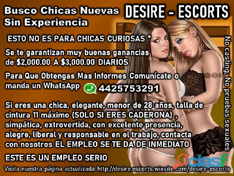 Buscamos señoritas que quieran mejorar su economía EN DESIRE ESCORTS 4425753291