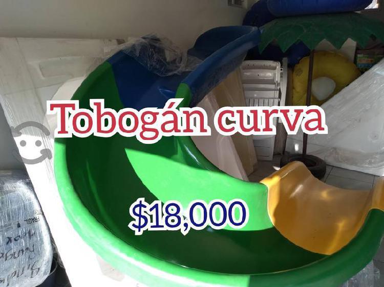 Tobogán acuático de fibra de vidrio