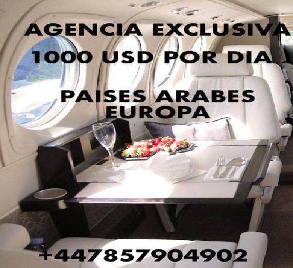 Agencia exclusiva Dubai y Europa!