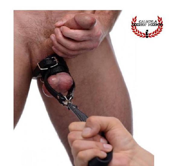 Anillo para Testículos Con Correa esclavo BDSM Sado
