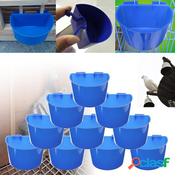 1pcs blue colgante de alimentación de agua cage tazas animales alimentos platos tazón de agua pet bowl
