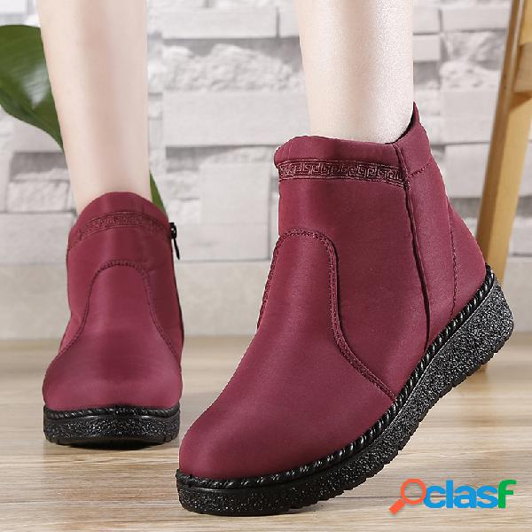 Cremallera antideslizante transpirable ligera algodón casual antiguo de pekín mujer botas