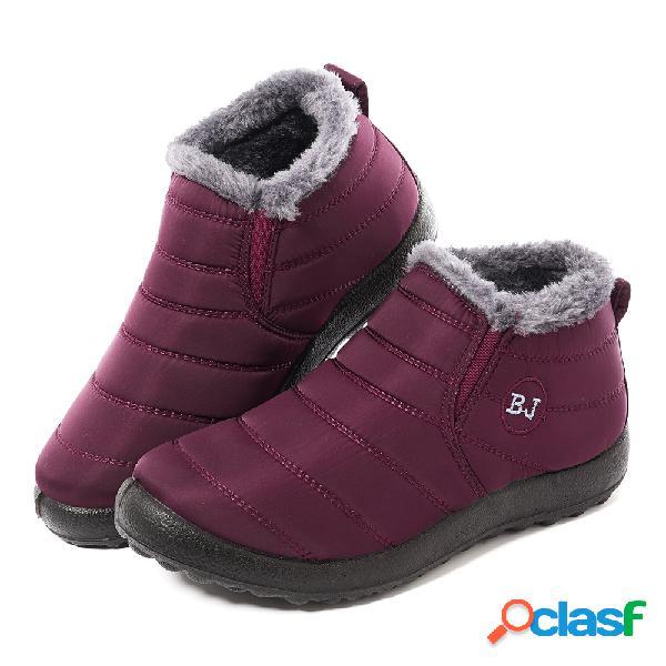 Lostisy impermeable forro cálido invierno nieve tobillo casual mujer botas