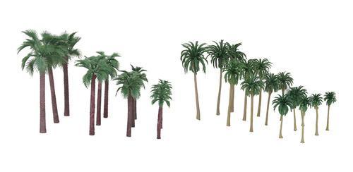 27 piezas de palmeras de coco modelo juguetes ho oo n