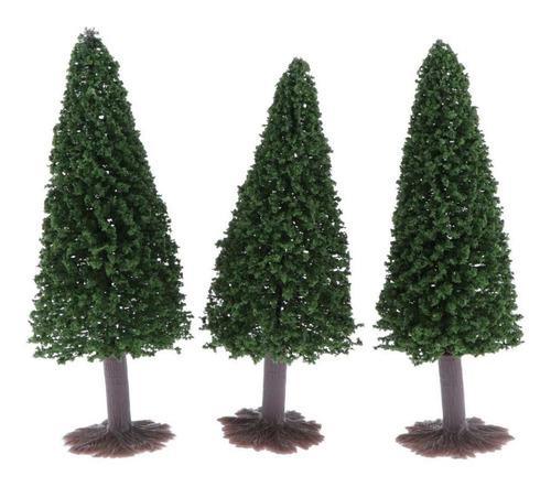 3x10cm ho oo modelos árbol en miniatura accesorios para