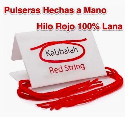4 pulseras rojas hilo 100% lana kabbalah hechas a mano