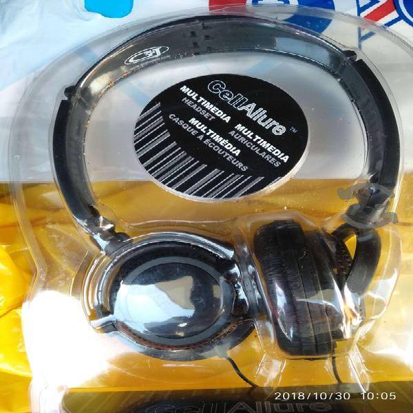 Audifonos alambricos sonido stereo microfono
