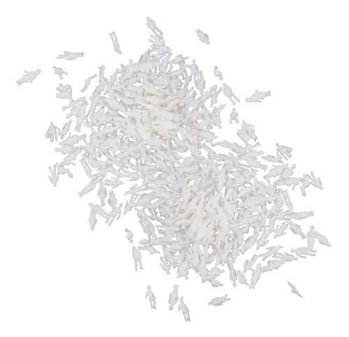 Blanco gente modelo del tren figuras 1: 200 100pcs escala