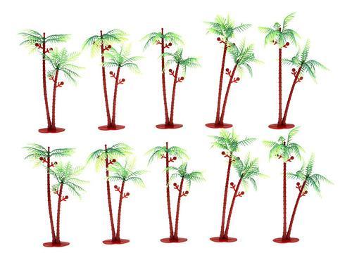 Escala ho modelo de palmeras de coco de 6 diseño de