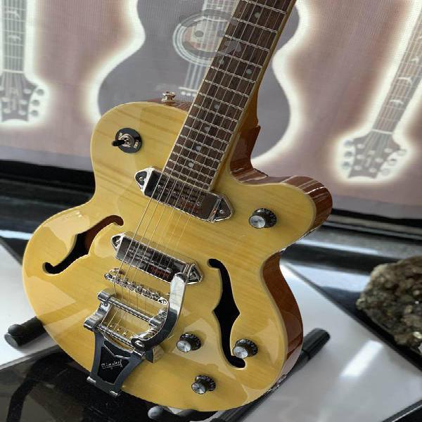Guitarra eléctrica epiphone casino wildkat con big