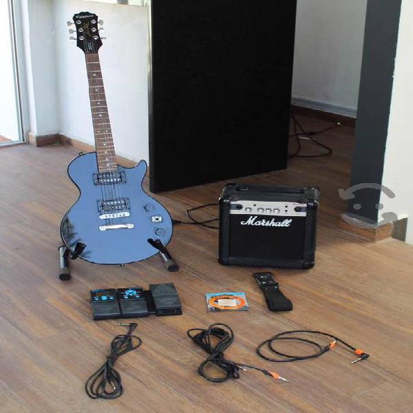 Guitarra eléctrica epiphone les paul completa