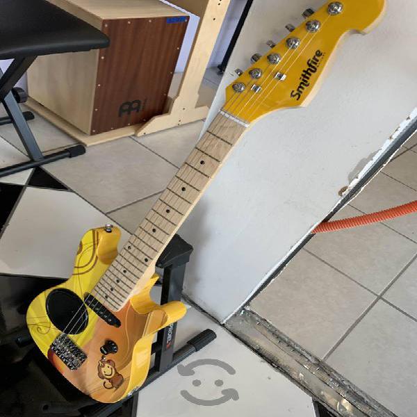 Guitarra eléctrica para niño incluye funda
