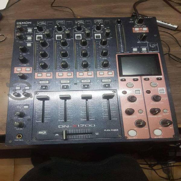 Mixer para dj marca denon modelo dnx1700