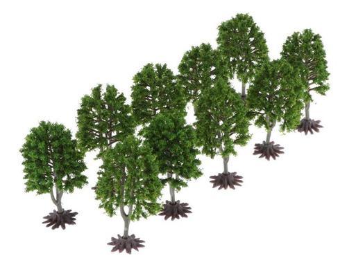 Modelo árboles verdes tree decorar modelo de mesa de arena