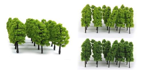 Modelos árbol verde ho escala 1: 100 juguete para diy