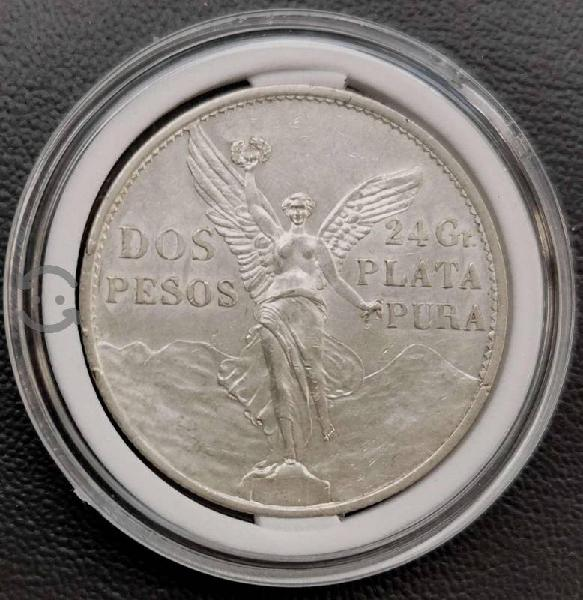 Moneda 2 pesos plata 1921 original centenario de l