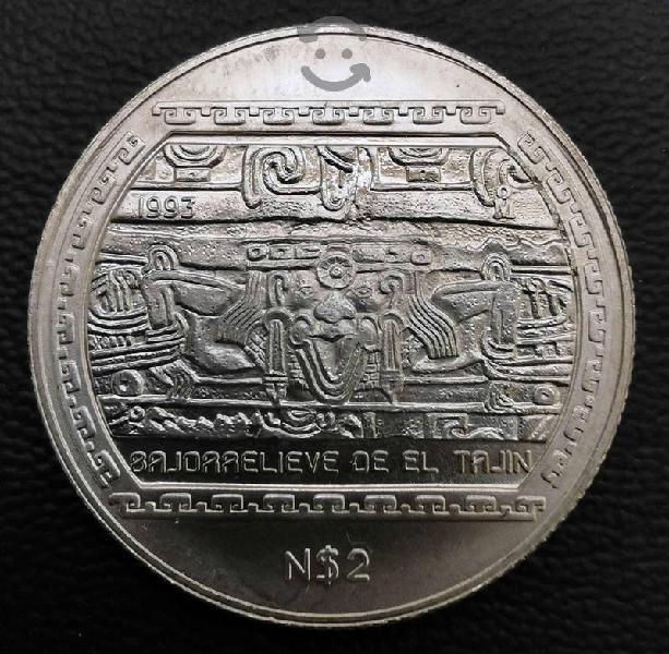 Moneda de media onza plata n2 pesos 1993 bajorelie