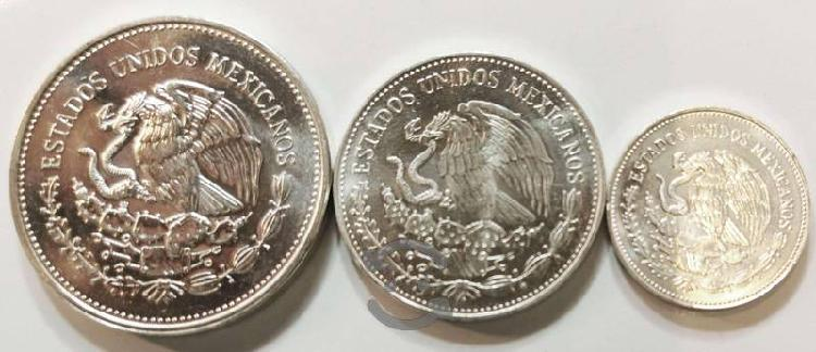 Serie de 3 monedas plata tesoros del mundial futbo