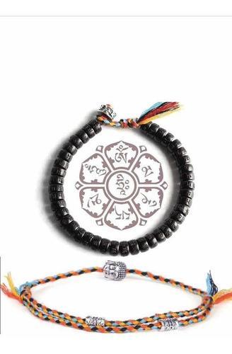 Set pulsera tibetana protección, abundancia y pulsera buda