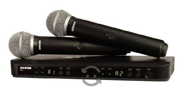 Shure blx288pg58 wireless doble inalambrico