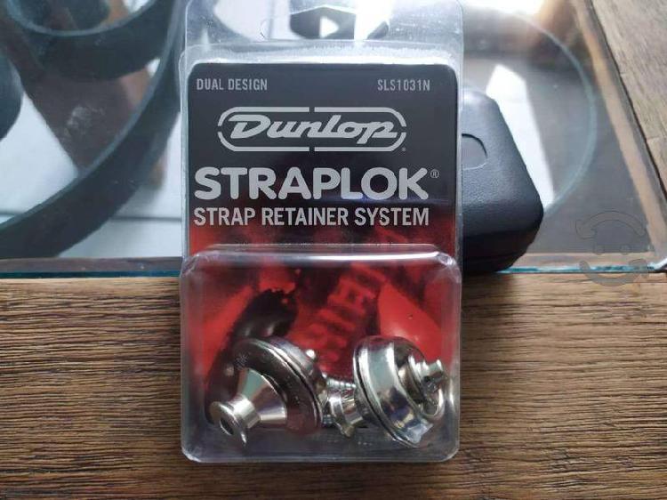Straplok dunlop para guitarra/bajo cromo seguro