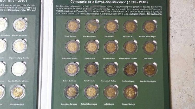 Colección del bicentenario y centenario solo moned
