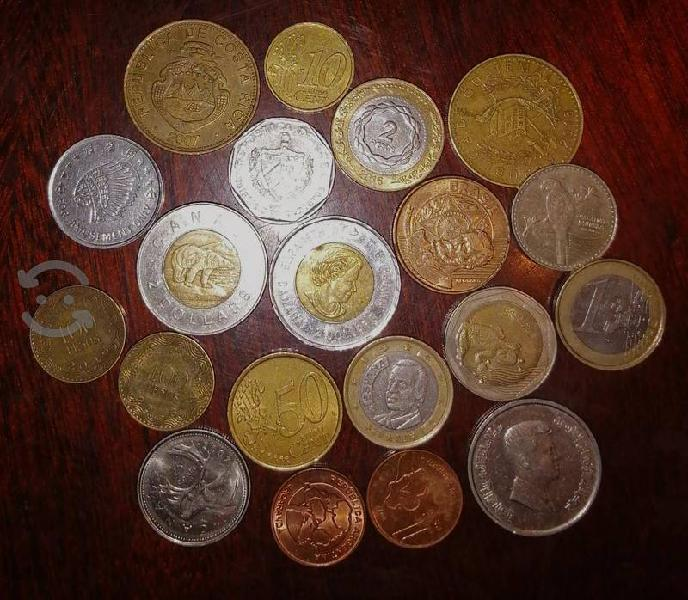 Monedas de diferentes países