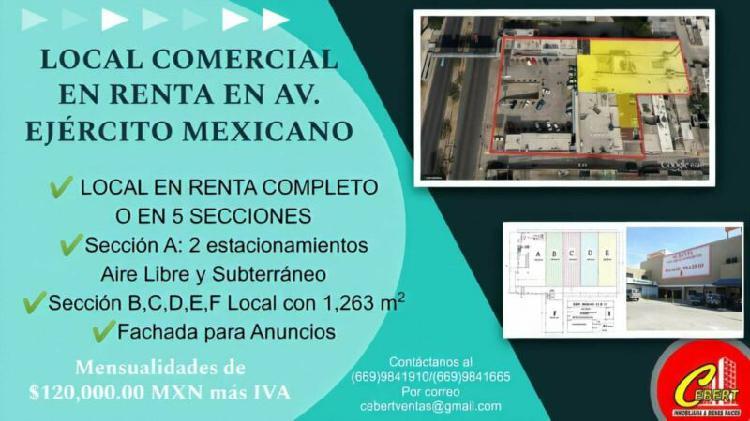 Gran promocion renta de local comercial en mazatlan sinaloa