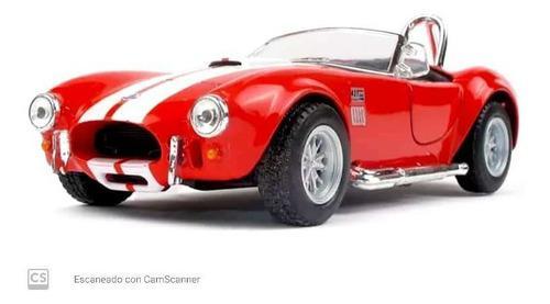 Auto escala 1:32 shelby cobra 1965 color rojo, colección.