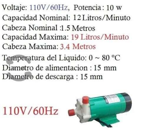 Bomba centrífuga para químicos ácidos bases 12 lpm