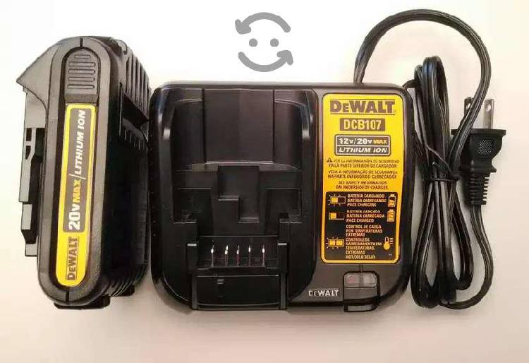 Cargador + 2 baterias dewalt 20v max