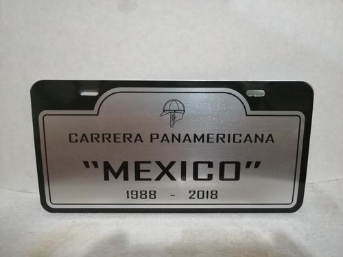 Carrera panamericana placa conmemorativa de coleccion