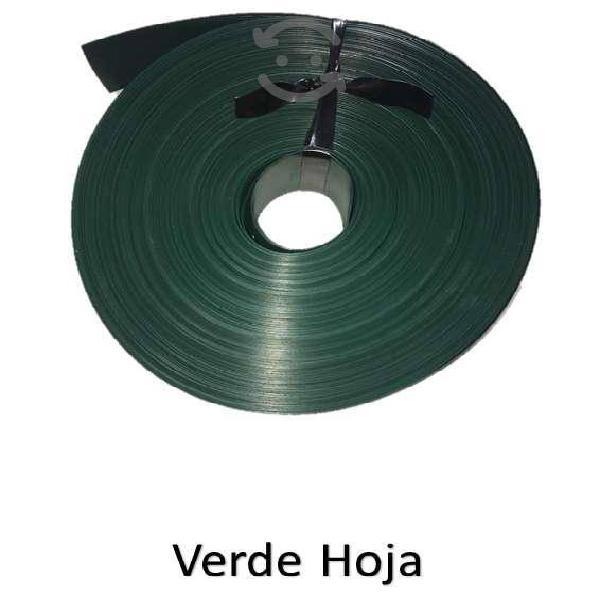 Cinta plastica rompevientos rollo 20m2 verde hoja