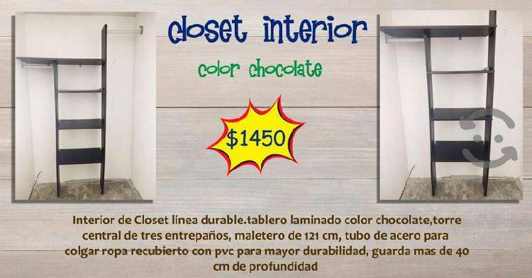 Closet ineterior color chocolate